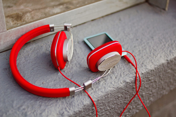 Bowers & Wilkins Headphones P3 Red